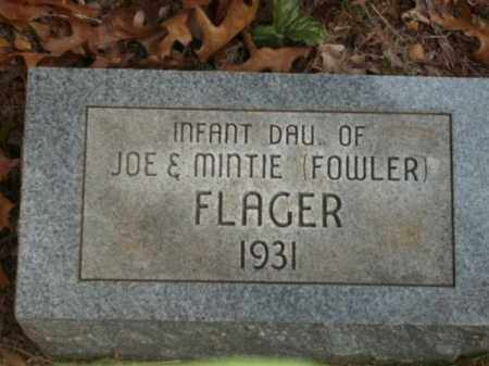 FLAGER, INFANT DAUGHTER - Newton County, Arkansas | INFANT DAUGHTER FLAGER - Arkansas Gravestone Photos