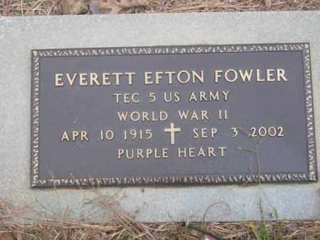 FOWLER  (VETERAN WWII), EVERETT EFTON - Newton County, Arkansas | EVERETT EFTON FOWLER  (VETERAN WWII) - Arkansas Gravestone Photos