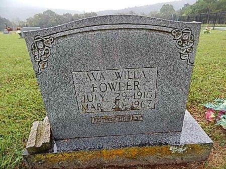 FOWLER, AVA WILLA - Newton County, Arkansas | AVA WILLA FOWLER - Arkansas Gravestone Photos