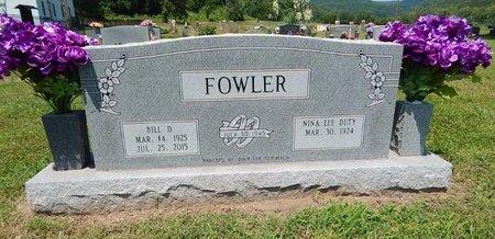 FOWLER, BILL D - Newton County, Arkansas | BILL D FOWLER - Arkansas Gravestone Photos