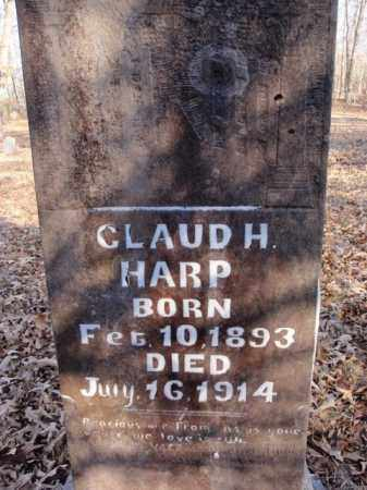 HARP, CLAUD H. - Newton County, Arkansas   CLAUD H. HARP - Arkansas Gravestone Photos
