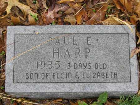HARP, PAUL E. - Newton County, Arkansas | PAUL E. HARP - Arkansas Gravestone Photos