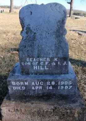 HILL, BEACHER K. - Newton County, Arkansas | BEACHER K. HILL - Arkansas Gravestone Photos