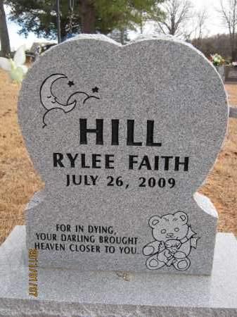 HILL, RYLEE FAITH - Newton County, Arkansas   RYLEE FAITH HILL - Arkansas Gravestone Photos