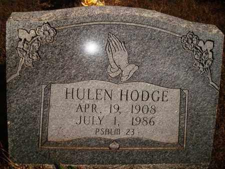 HODGE, HULEN - Newton County, Arkansas | HULEN HODGE - Arkansas Gravestone Photos