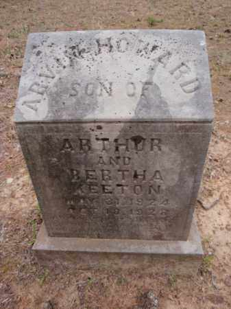 KEETON, ARVIN HOWARD - Newton County, Arkansas | ARVIN HOWARD KEETON - Arkansas Gravestone Photos