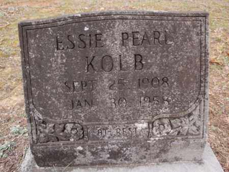 JONES KOLB, ESSIE PEARL - Newton County, Arkansas   ESSIE PEARL JONES KOLB - Arkansas Gravestone Photos