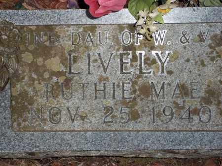 LIVELY, RUTHIE MAY - Newton County, Arkansas | RUTHIE MAY LIVELY - Arkansas Gravestone Photos