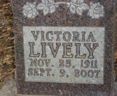 LIVELY, VICTORIA - Newton County, Arkansas   VICTORIA LIVELY - Arkansas Gravestone Photos