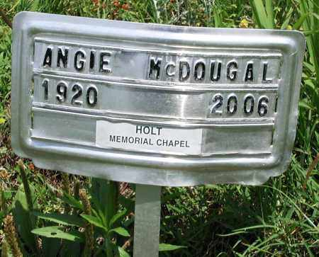 MCDOUGAL, ANGIE - Newton County, Arkansas | ANGIE MCDOUGAL - Arkansas Gravestone Photos
