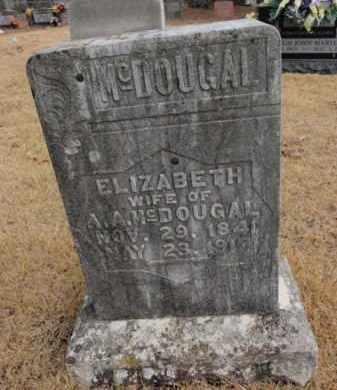 MCDOUGAL, ELIZABETH - Newton County, Arkansas | ELIZABETH MCDOUGAL - Arkansas Gravestone Photos