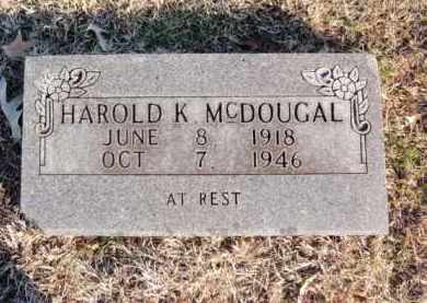 MCDOUGAL, HAROLD K - Newton County, Arkansas | HAROLD K MCDOUGAL - Arkansas Gravestone Photos