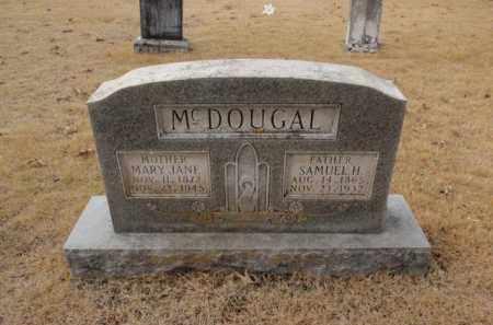 MCDOUGAL, MARY JANE - Newton County, Arkansas   MARY JANE MCDOUGAL - Arkansas Gravestone Photos