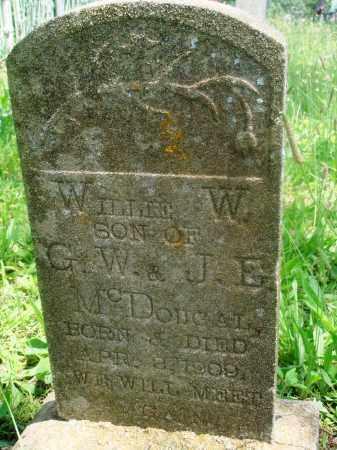 MCDOUGAL, WILLIE W - Newton County, Arkansas   WILLIE W MCDOUGAL - Arkansas Gravestone Photos