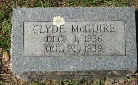 MCGUIRE, CLYDE - Newton County, Arkansas | CLYDE MCGUIRE - Arkansas Gravestone Photos