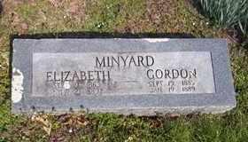 HILL MINYARD, ELIZABETH - Newton County, Arkansas   ELIZABETH HILL MINYARD - Arkansas Gravestone Photos