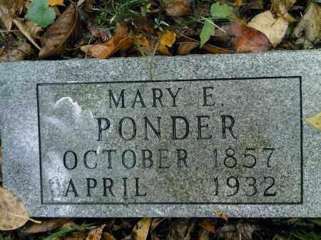 PONDER, MARY E - Newton County, Arkansas   MARY E PONDER - Arkansas Gravestone Photos