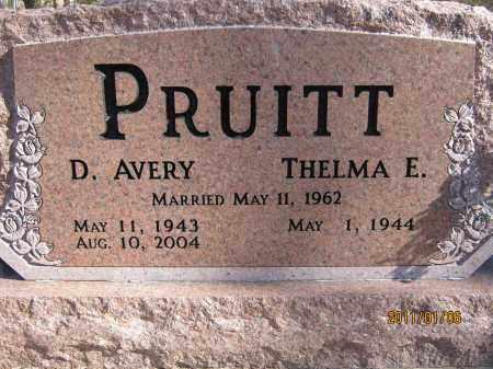 PRUITT, D. AVERY - Newton County, Arkansas | D. AVERY PRUITT - Arkansas Gravestone Photos