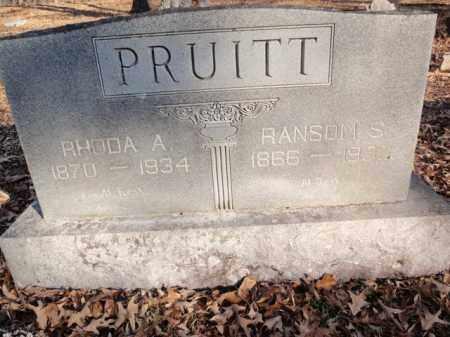 BERRY PRUITT, RHODA A. - Newton County, Arkansas | RHODA A. BERRY PRUITT - Arkansas Gravestone Photos