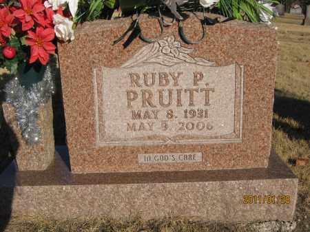 PRUITT, RUBY P. - Newton County, Arkansas   RUBY P. PRUITT - Arkansas Gravestone Photos