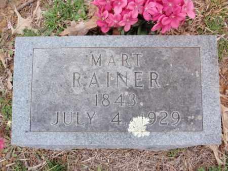 RAINER, MART - Newton County, Arkansas   MART RAINER - Arkansas Gravestone Photos