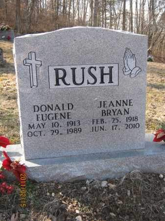 RUSH, DONALD EUGENE - Newton County, Arkansas | DONALD EUGENE RUSH - Arkansas Gravestone Photos