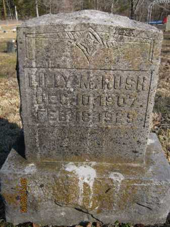 RUSH, LILLY M. - Newton County, Arkansas | LILLY M. RUSH - Arkansas Gravestone Photos