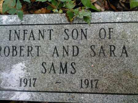 SAMS, INFANT SON - Newton County, Arkansas   INFANT SON SAMS - Arkansas Gravestone Photos