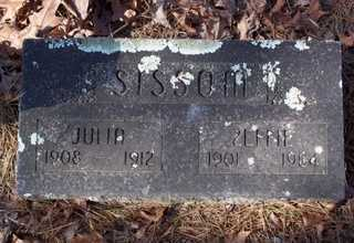 SISSOM, JULIA - Newton County, Arkansas   JULIA SISSOM - Arkansas Gravestone Photos