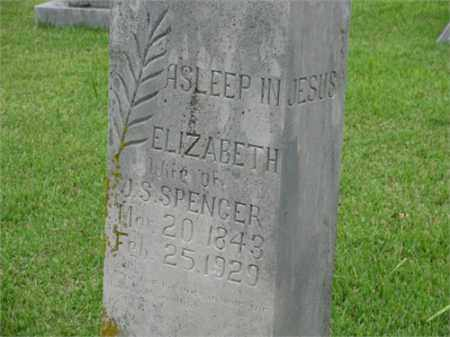 SPENCER, ELIZABETH - Newton County, Arkansas | ELIZABETH SPENCER - Arkansas Gravestone Photos