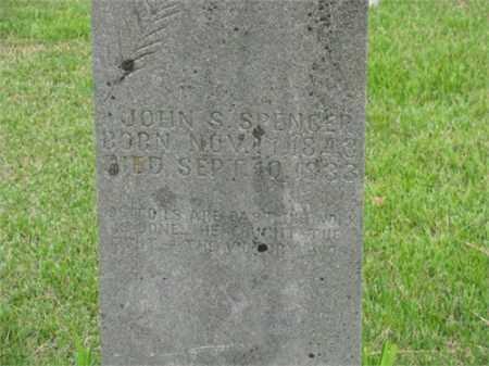 SPENCER, JOHN SAMUEL - Newton County, Arkansas | JOHN SAMUEL SPENCER - Arkansas Gravestone Photos