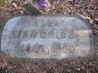 STANDRIDGE, ALEX - Newton County, Arkansas   ALEX STANDRIDGE - Arkansas Gravestone Photos