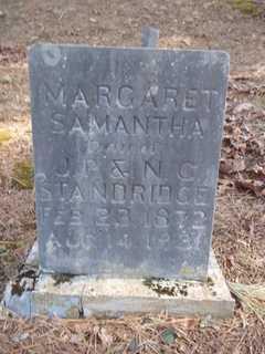 STANDRIDGE, MARGARET SAMANTHA - Newton County, Arkansas | MARGARET SAMANTHA STANDRIDGE - Arkansas Gravestone Photos