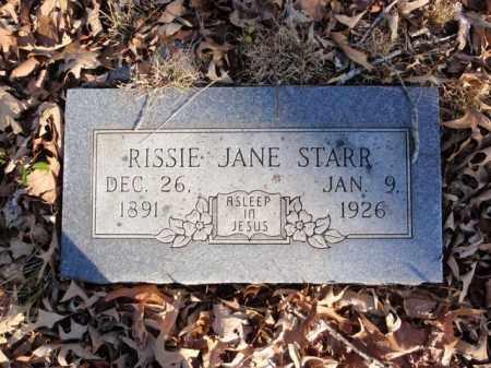HENDERSON STARR, RISSIE JANE - Newton County, Arkansas   RISSIE JANE HENDERSON STARR - Arkansas Gravestone Photos