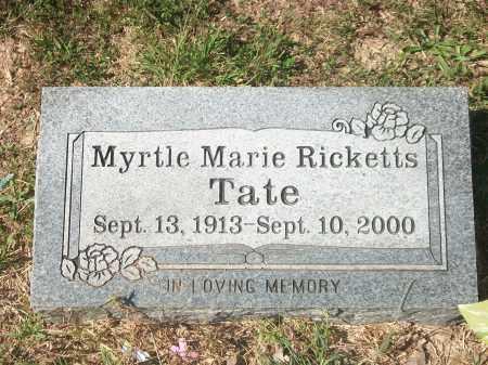 RICKETTS TATE, MYRTLE MARIE - Newton County, Arkansas | MYRTLE MARIE RICKETTS TATE - Arkansas Gravestone Photos