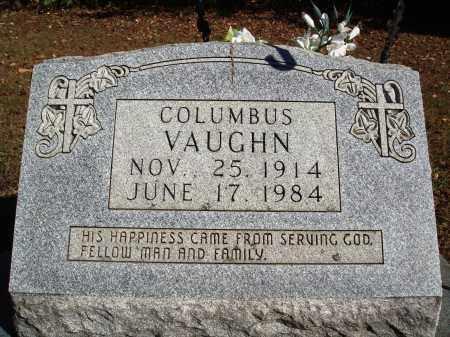 VAUGHN, COLUMBUS - Newton County, Arkansas | COLUMBUS VAUGHN - Arkansas Gravestone Photos