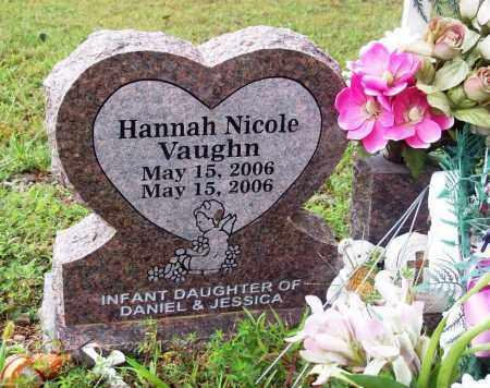 VAUGHN, HANNAH NICOLE - Newton County, Arkansas   HANNAH NICOLE VAUGHN - Arkansas Gravestone Photos