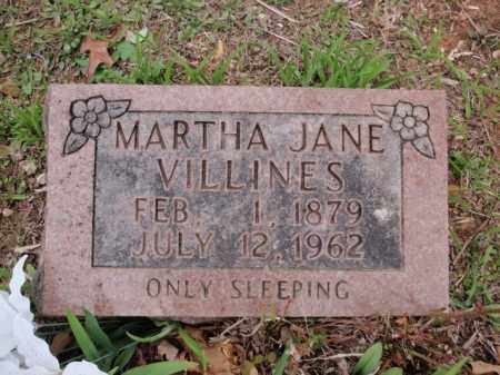 VILLINES, MARTHA JANE - Newton County, Arkansas | MARTHA JANE VILLINES - Arkansas Gravestone Photos