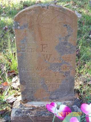 WAGES, BENJAMIN FRANKLIN - Newton County, Arkansas | BENJAMIN FRANKLIN WAGES - Arkansas Gravestone Photos