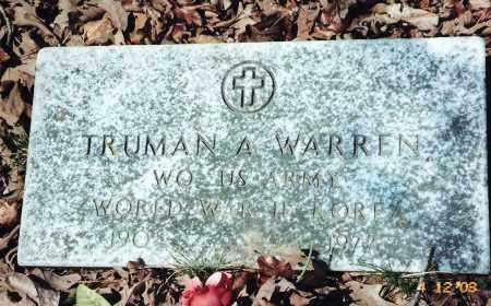 WARREN (VETERAN 2 WARS), TRUMAN A - Newton County, Arkansas | TRUMAN A WARREN (VETERAN 2 WARS) - Arkansas Gravestone Photos