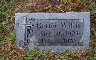 WILLIS, GETTER - Newton County, Arkansas   GETTER WILLIS - Arkansas Gravestone Photos