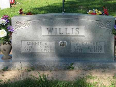 WILLIS, MINNIE A. - Newton County, Arkansas   MINNIE A. WILLIS - Arkansas Gravestone Photos
