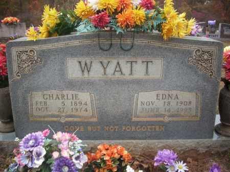 WYATT, CHARLIE - Newton County, Arkansas   CHARLIE WYATT - Arkansas Gravestone Photos