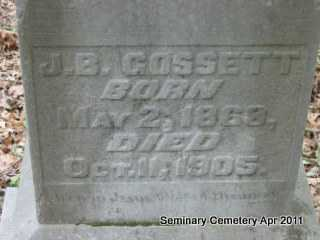 GOSSETT, J B (CLOSE UP) - Ouachita County, Arkansas | J B (CLOSE UP) GOSSETT - Arkansas Gravestone Photos