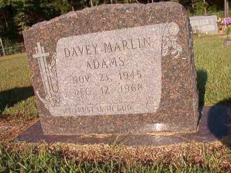 ADAMS, DAVEY MARLIN - Ouachita County, Arkansas | DAVEY MARLIN ADAMS - Arkansas Gravestone Photos