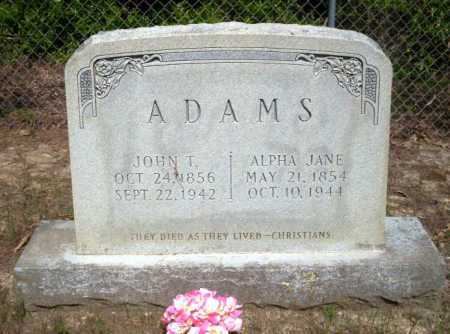ADAMS, ALPHA JANE - Ouachita County, Arkansas | ALPHA JANE ADAMS - Arkansas Gravestone Photos