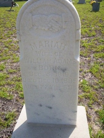ADAMS, MARIAH - Ouachita County, Arkansas | MARIAH ADAMS - Arkansas Gravestone Photos