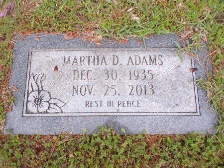 ADAMS, MARTHA D - Ouachita County, Arkansas | MARTHA D ADAMS - Arkansas Gravestone Photos