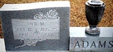 ADAMS, OVIE M. - Ouachita County, Arkansas | OVIE M. ADAMS - Arkansas Gravestone Photos