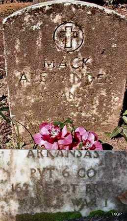ALEXANDER (VETERAN WWI), MACK - Ouachita County, Arkansas | MACK ALEXANDER (VETERAN WWI) - Arkansas Gravestone Photos
